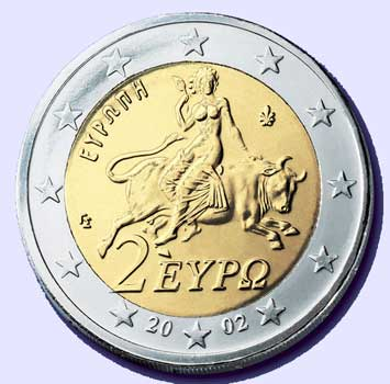 A Woman Rides The Beast 2 Euro Coin