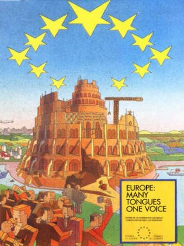 EU Poster Tower Of Babel
