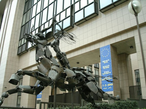 Europa Statue EU Headquarters Brussels